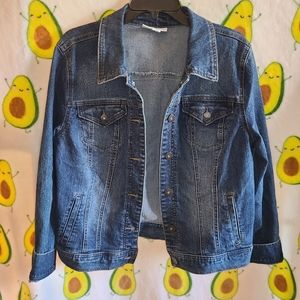 Macy's Style & Co Blue Denim Jean Jacket